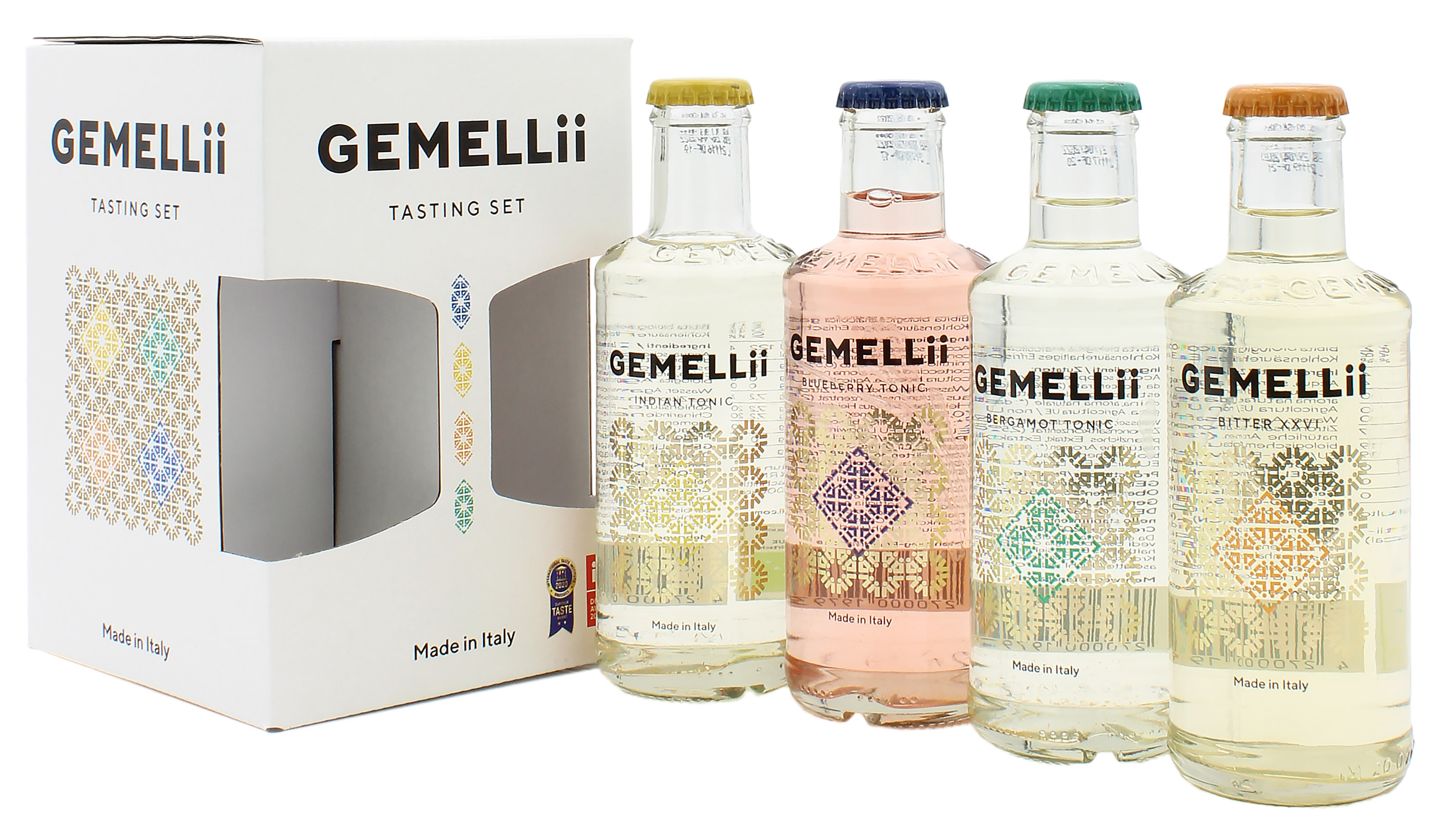 4er Pack GEMELLii Tonic Probierset alle Sorten 4x0,2l (mit Fenster)